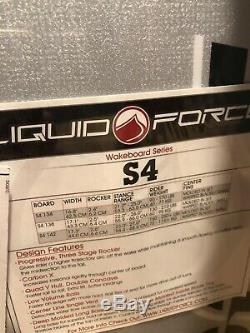 Brand New Liquid Force Phillip Soven S4 142 Carbon X Wakeboard