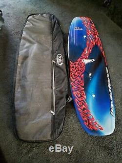 LIQUID FORCE RHYTHM 41 WAKEBOARD WithCASE. VGUC 55.5 LENGTH. NO BOOTS/BINDINGS