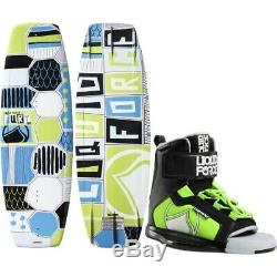 Liquid Force 125 FURY Wakeboard w 4-6 RANT Bindings Youth Boots Combo + VEST