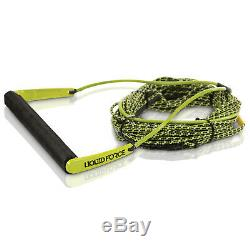 Liquid Force 2019 Team with H-Braid Line (Green) 70' Wakeboard Rope & Handle Combo
