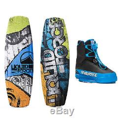 Liquid Force Classic Wakeboard With Tao Bindings 2016 138cm/6-8 NEW