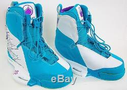 Liquid Force Harley Mens Wakeboard Boots Wht/turquoise Size11-12 New