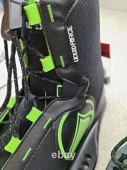 Liquid Force Index Wake Board Shoes Size 12 15 Black Neon Green Adjustable NWT