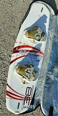 Liquid Force Stance Wakeboard 138 Boots & Carrying Case Super Nice Board
