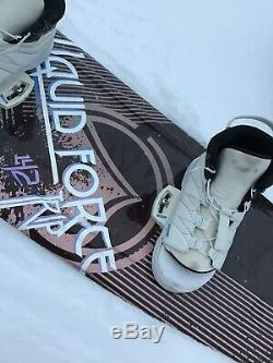 Liquid Force Trip 142 Wakeboard WithIndex Boots 8-12 Used But Nice