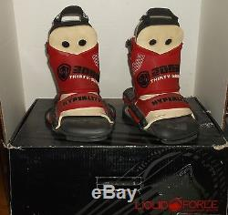 Liquid Force Watson OT Wakeboard Boots 2095455 Size 9-10 Red Gently Used withBox