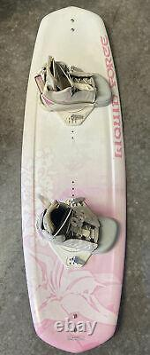 Vintage Liquid Force Diva 128 Wakeboard 51 With Boots Wake Surf GOOD